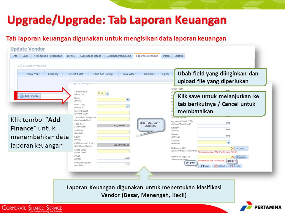 Upgrade/Upgrade: Tab Pajak