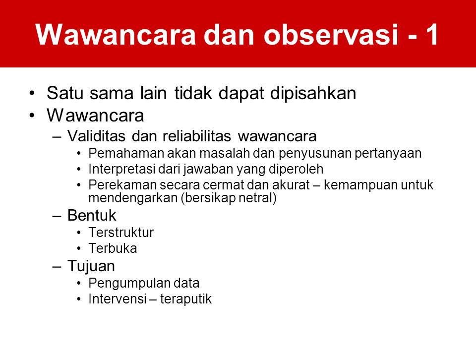 Wawancara dan observasi - 1