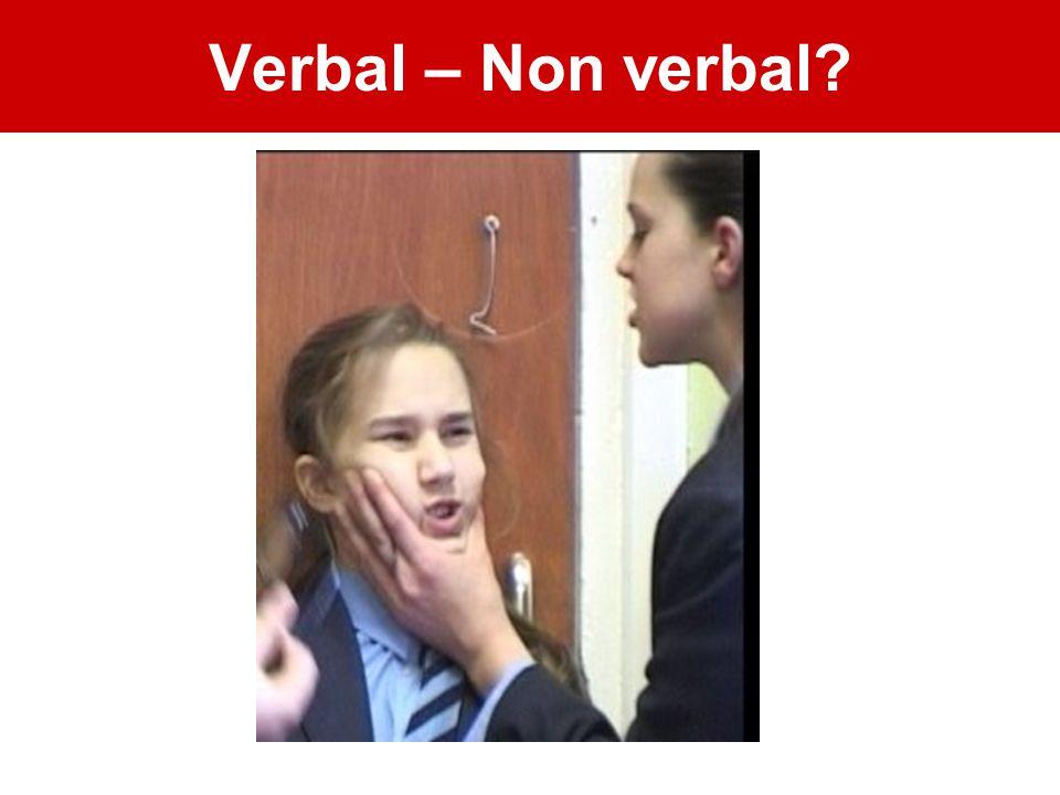 Verbal – Non verbal