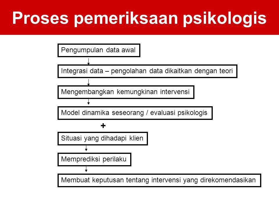 Proses pemeriksaan psikologis
