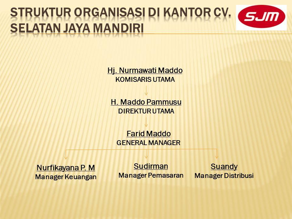 STRUKTUR ORGANISASI DI KANTOR CV. SELATAN JAYA MANDIRI
