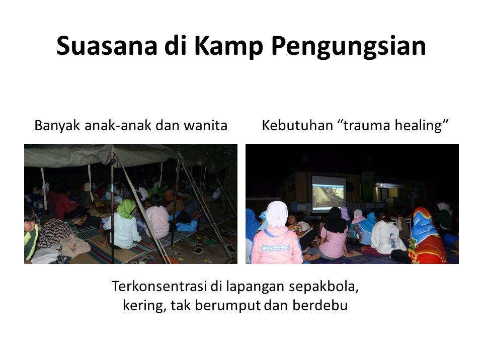 Suasana di Kamp Pengungsian