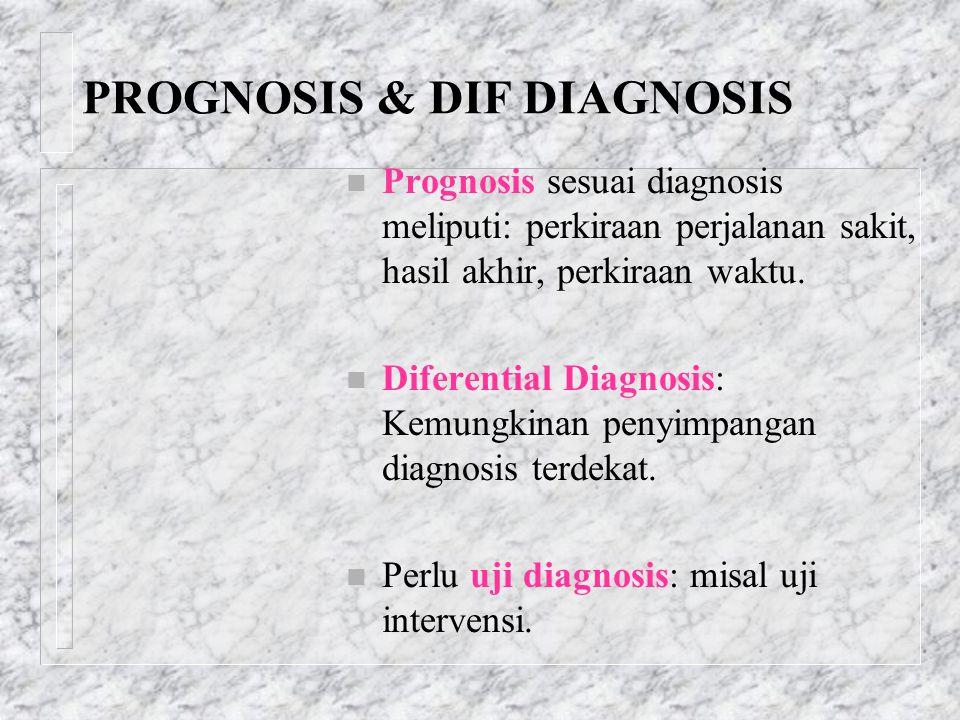 PROGNOSIS & DIF DIAGNOSIS