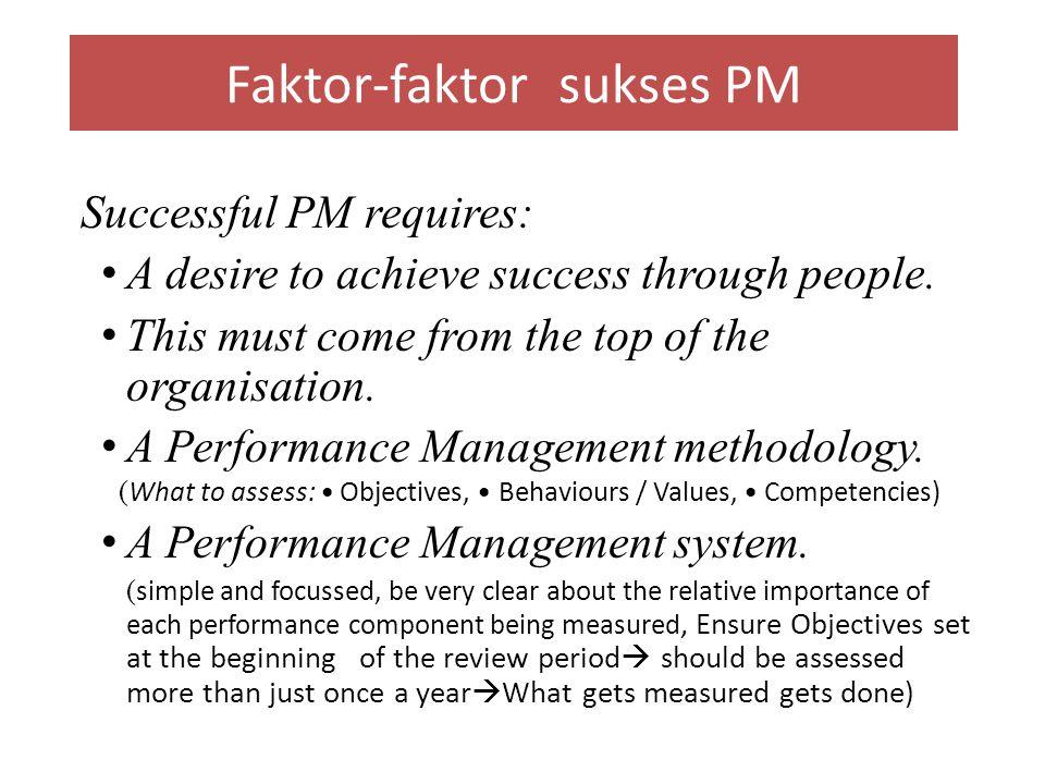 Faktor-faktor sukses PM