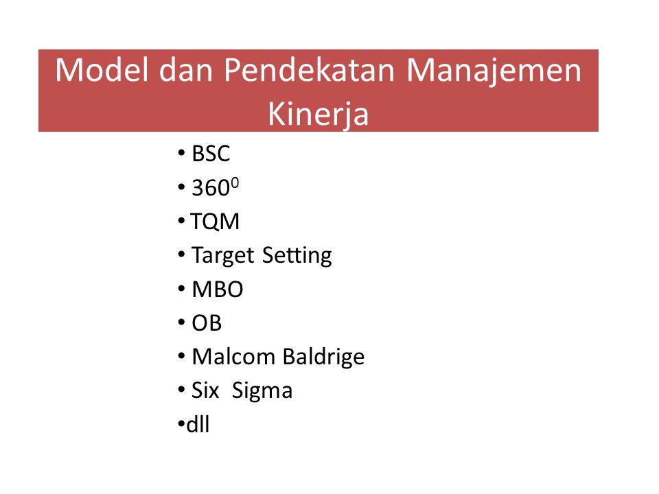 Model dan Pendekatan Manajemen Kinerja