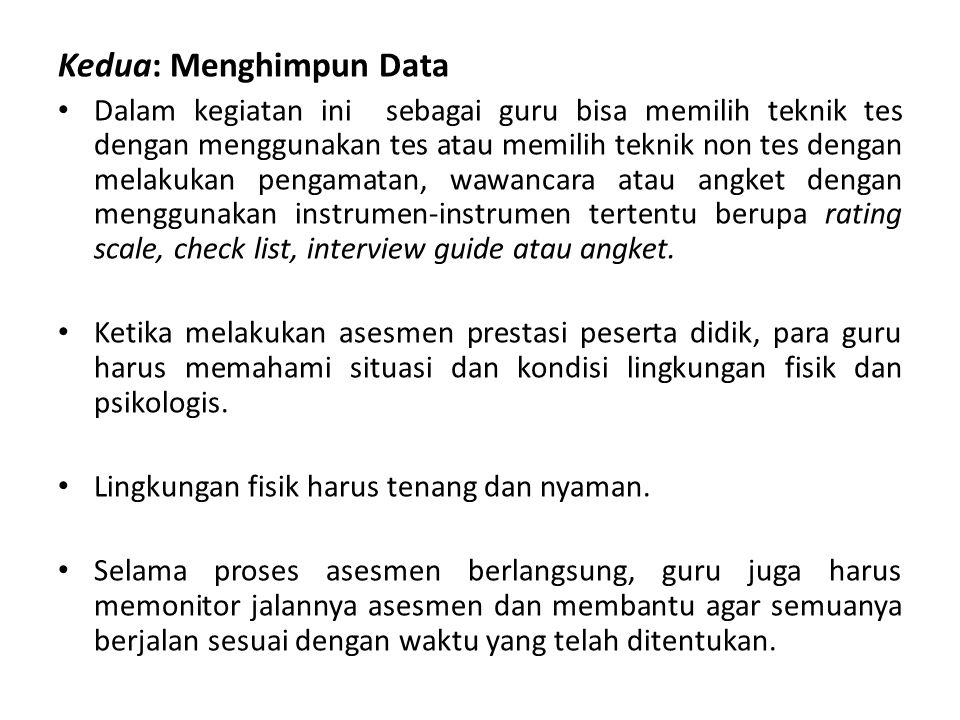 Kedua: Menghimpun Data