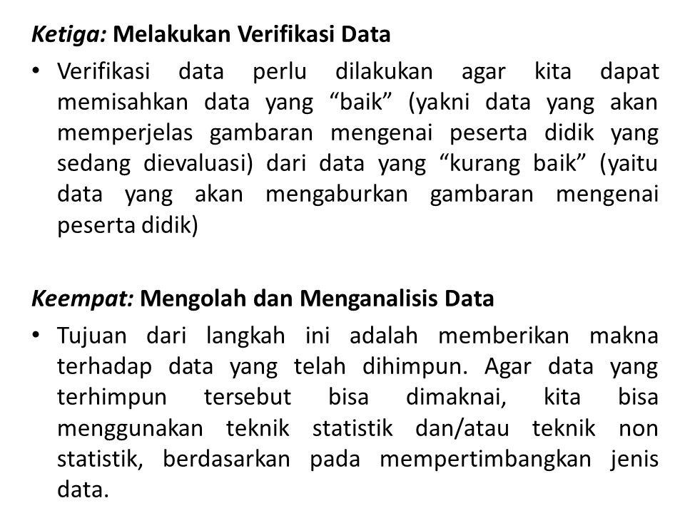 Ketiga: Melakukan Verifikasi Data