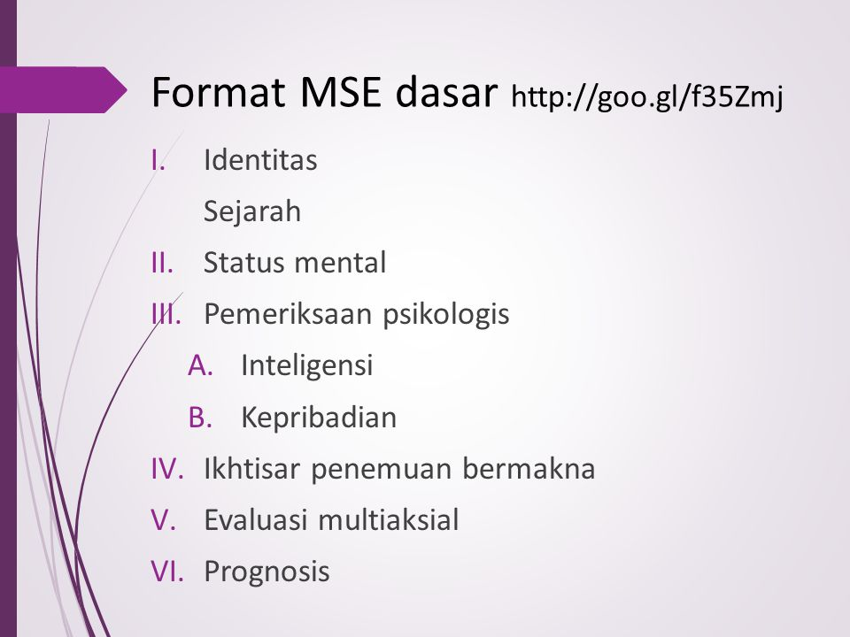 Format MSE dasar http://goo.gl/f35Zmj