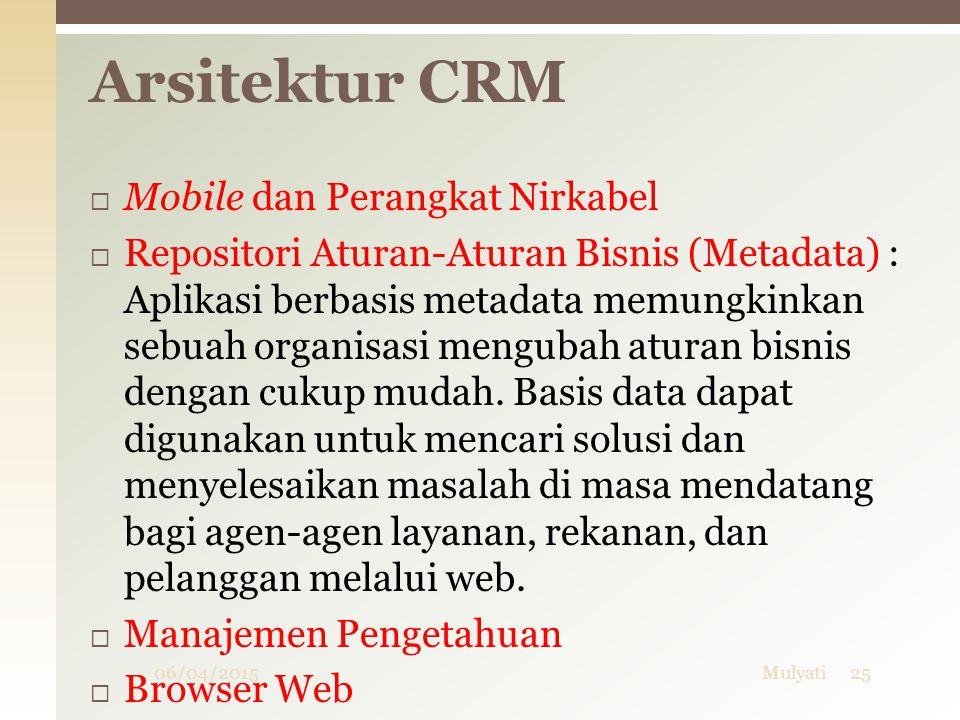 Arsitektur CRM Mobile dan Perangkat Nirkabel