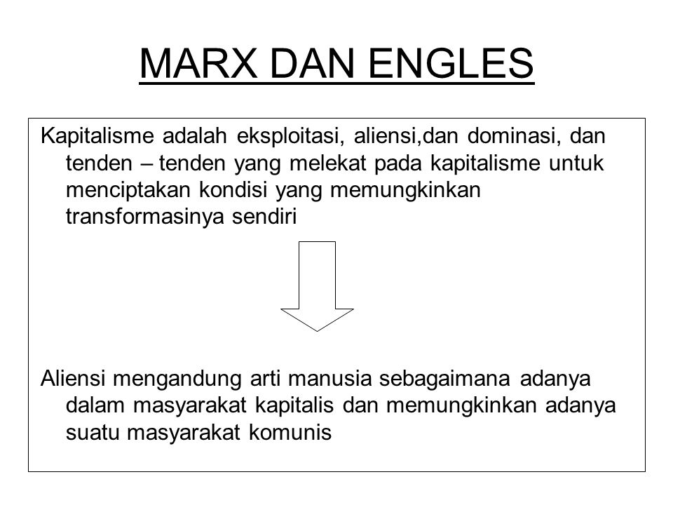 MARX DAN ENGLES