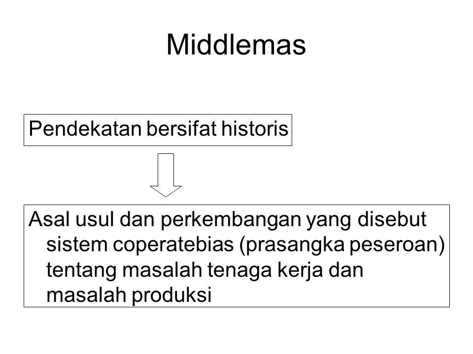 Middlemas Pendekatan bersifat historis