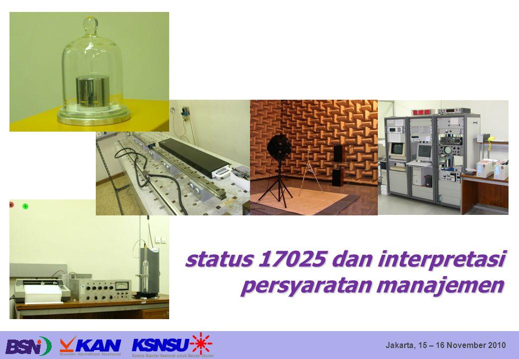 status 17025 dan interpretasi persyaratan manajemen