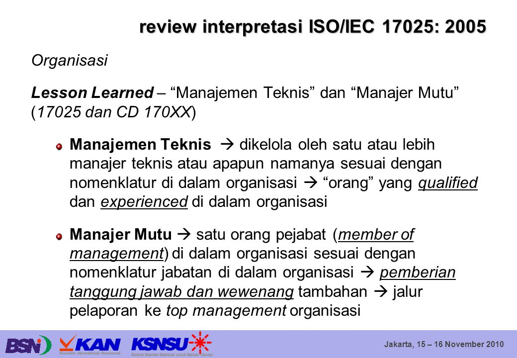 review interpretasi ISO/IEC 17025: 2005
