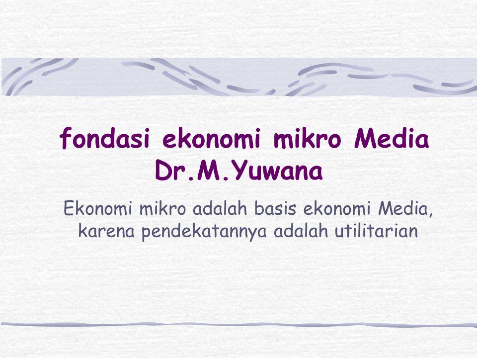 fondasi ekonomi mikro Media Dr.M.Yuwana