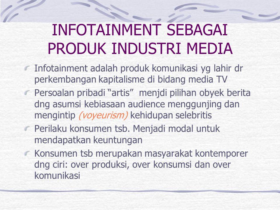 INFOTAINMENT SEBAGAI PRODUK INDUSTRI MEDIA