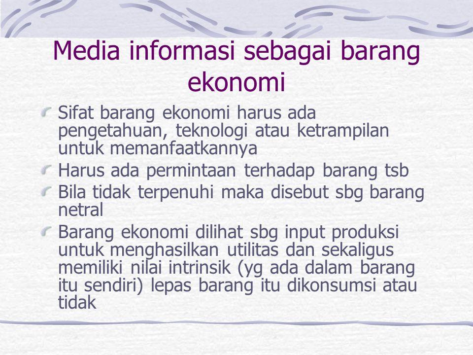 Media informasi sebagai barang ekonomi