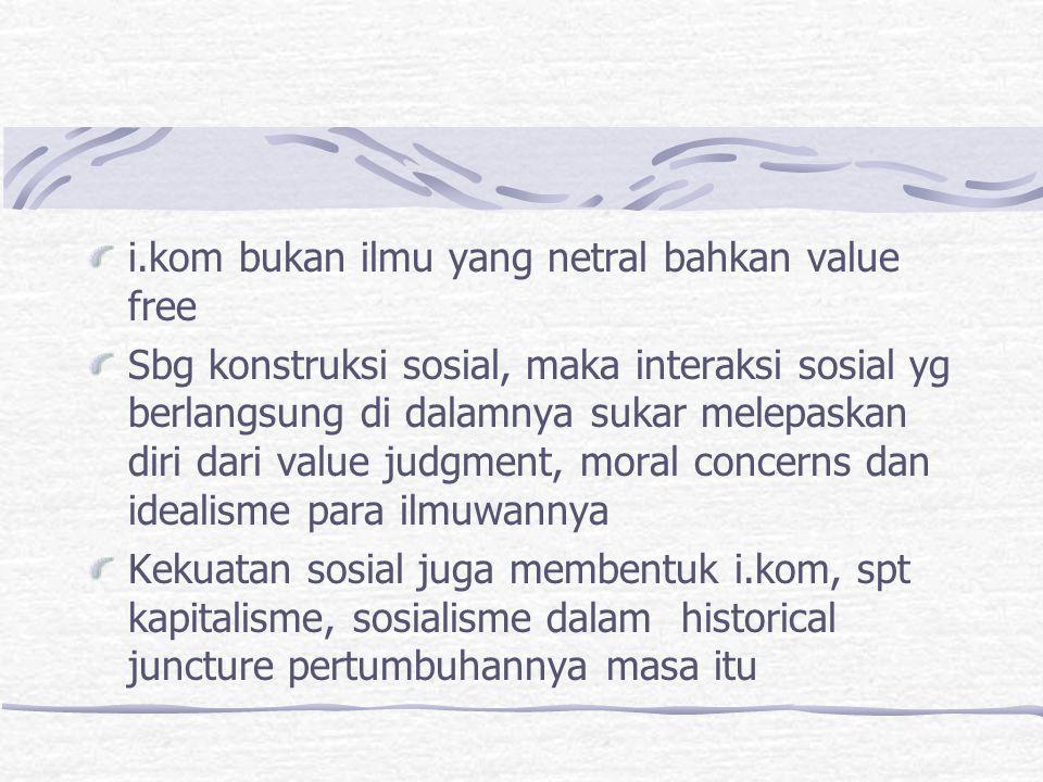 i.kom bukan ilmu yang netral bahkan value free