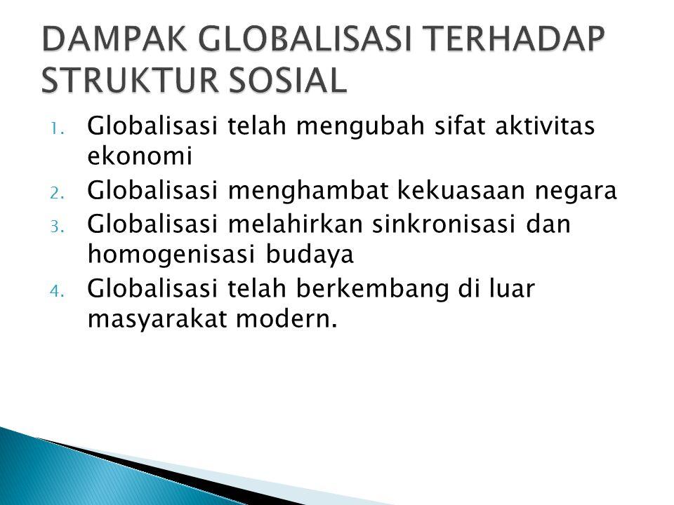 DAMPAK GLOBALISASI TERHADAP STRUKTUR SOSIAL