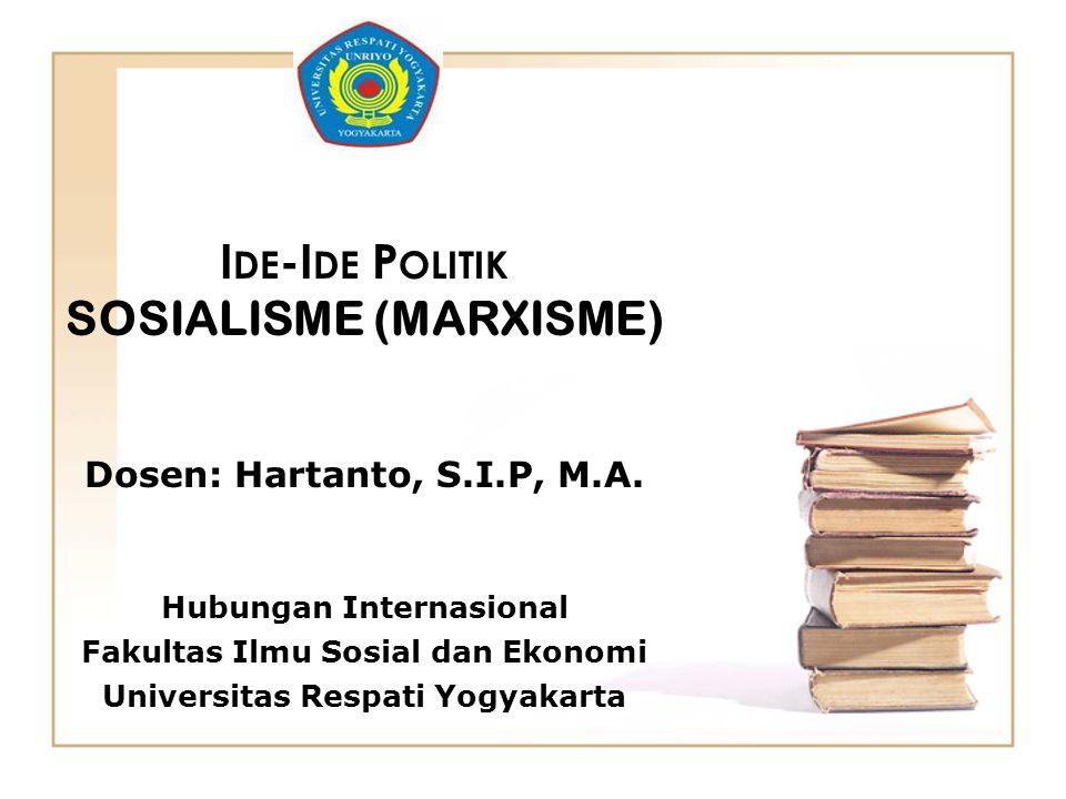 SOSIALISME (MARXISME)
