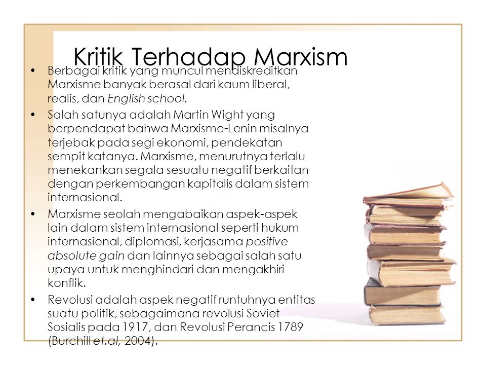 Kritik Terhadap Marxism