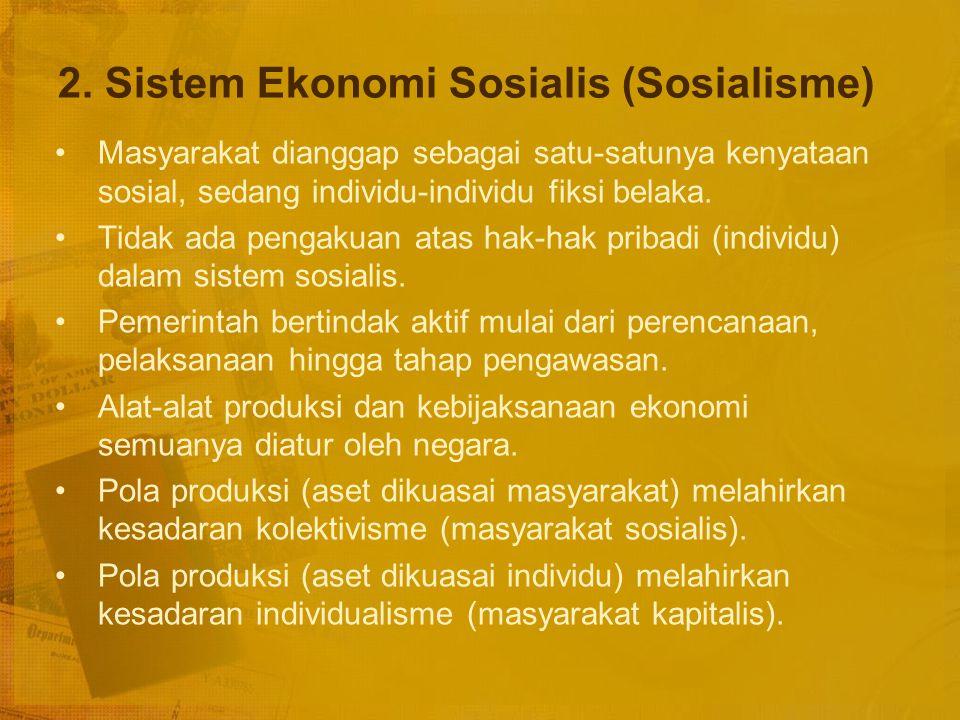 2. Sistem Ekonomi Sosialis (Sosialisme)