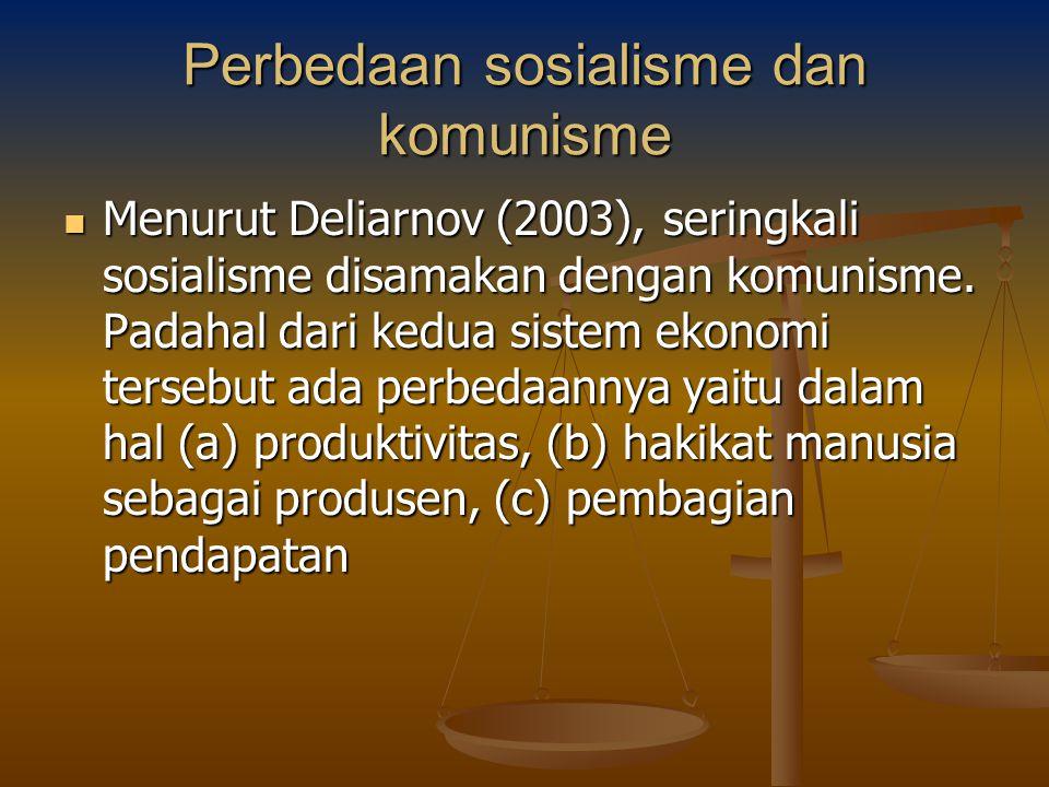 Perbedaan sosialisme dan komunisme