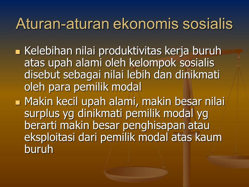 Aturan-aturan ekonomis sosialis
