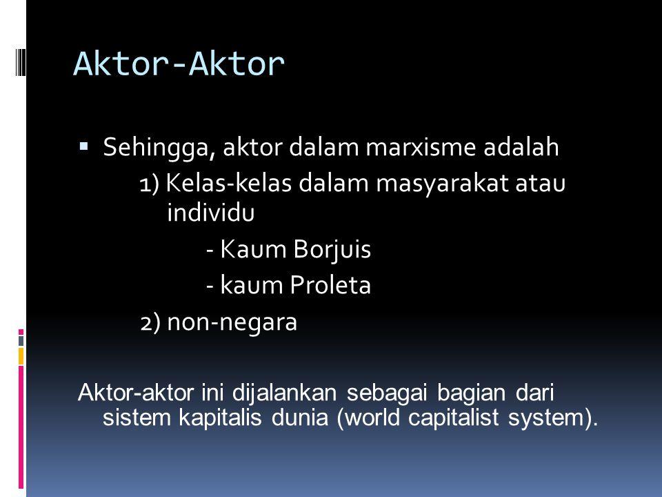 Aktor-Aktor Sehingga, aktor dalam marxisme adalah