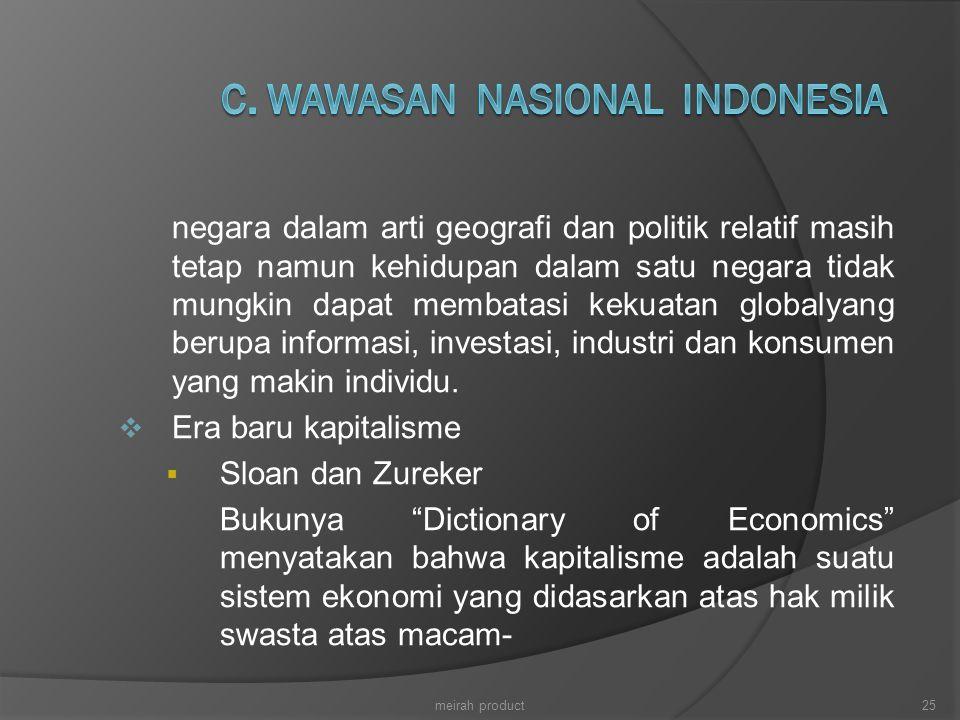 C. WAWASAN NASIONAL INDONESIA