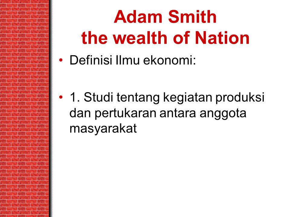 Adam Smith the wealth of Nation