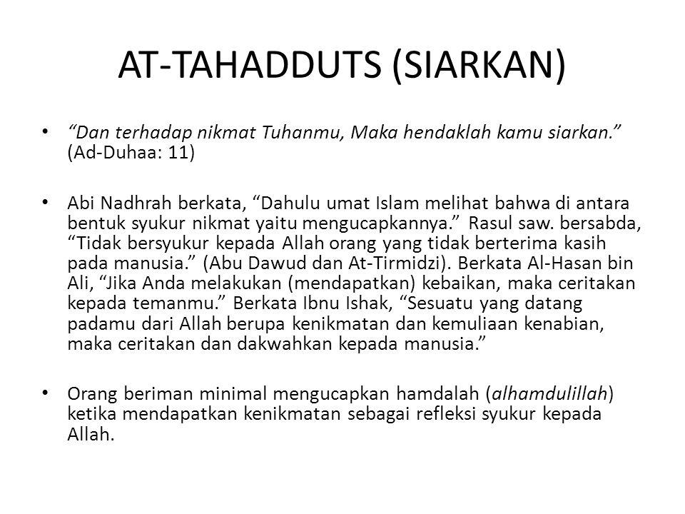 AT-TAHADDUTS (SIARKAN)