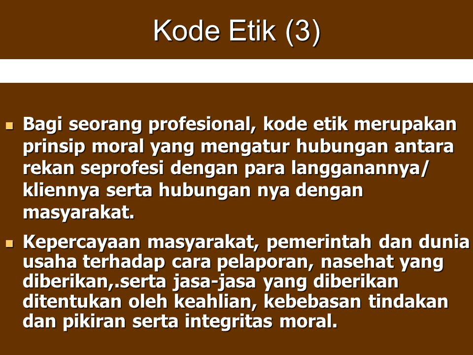 Kode Etik (3)