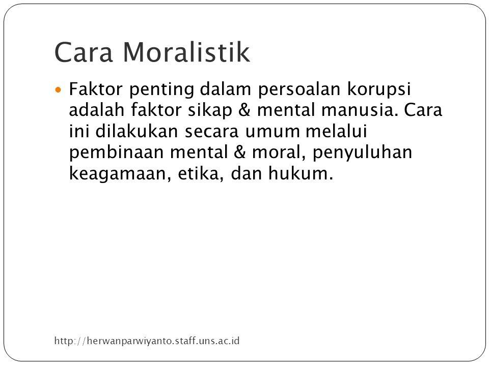 Cara Moralistik