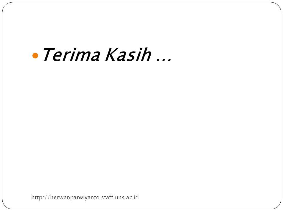 Terima Kasih … http://herwanparwiyanto.staff.uns.ac.id