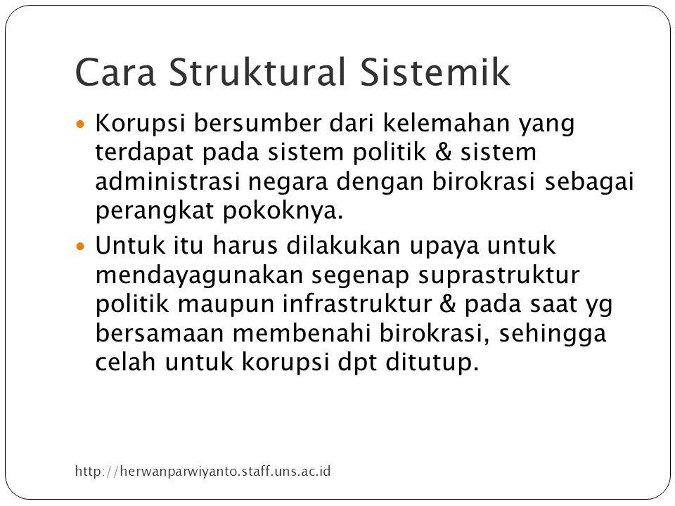 Cara Struktural Sistemik