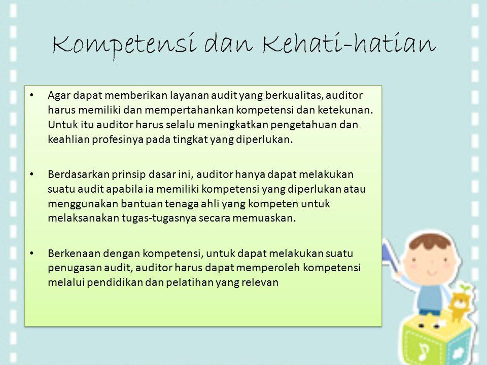 Kompetensi dan Kehati-hatian