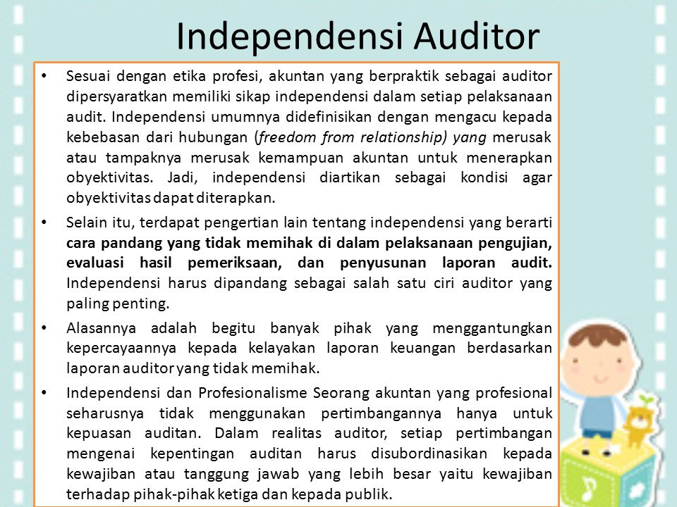 Independensi Auditor