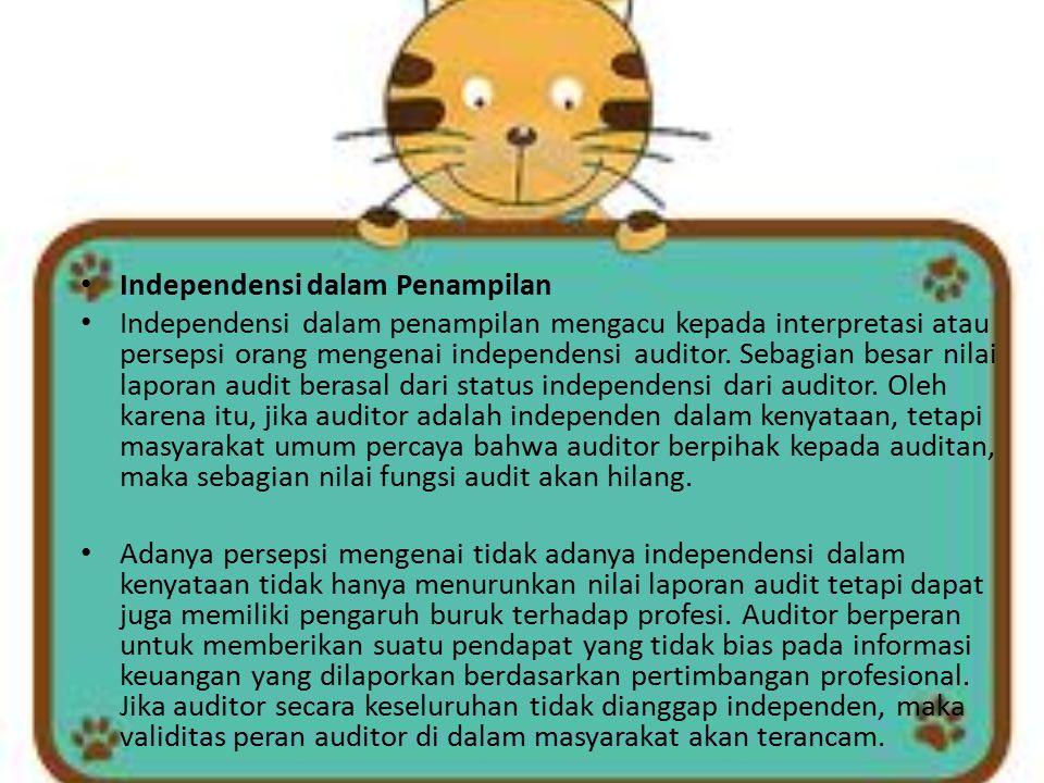 Independensi dalam Penampilan