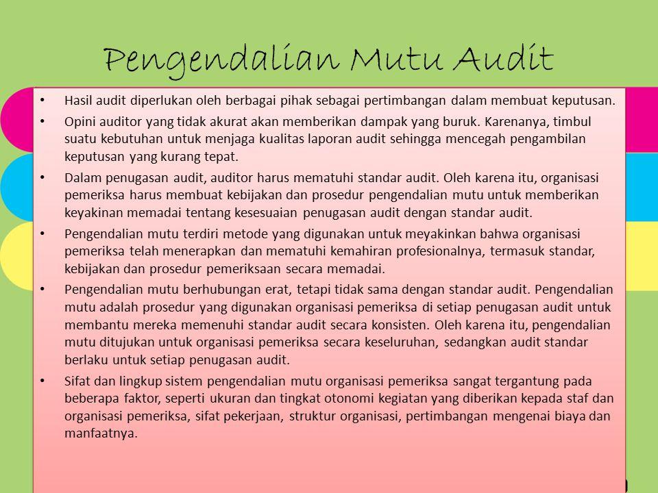 Pengendalian Mutu Audit
