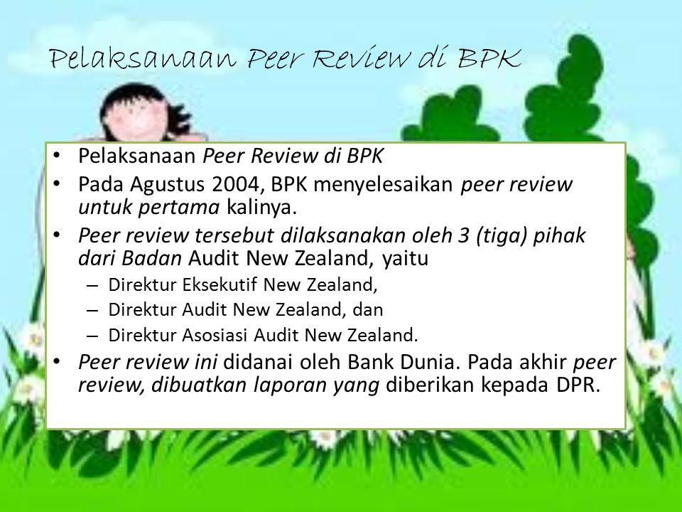 Pelaksanaan Peer Review di BPK