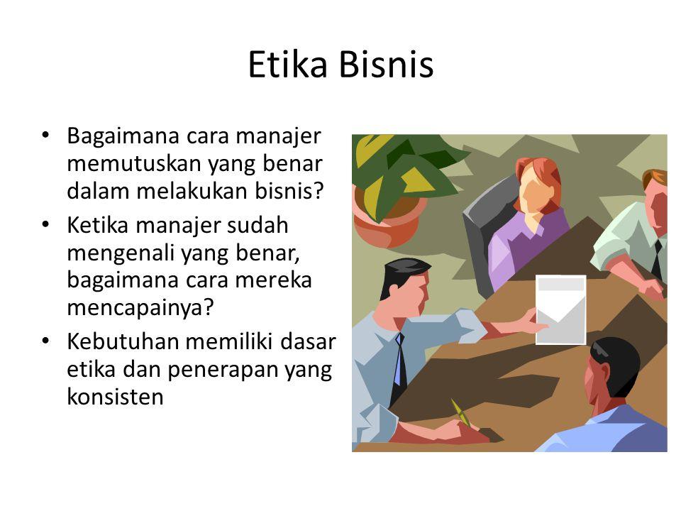 Etika Bisnis Bagaimana cara manajer memutuskan yang benar dalam melakukan bisnis