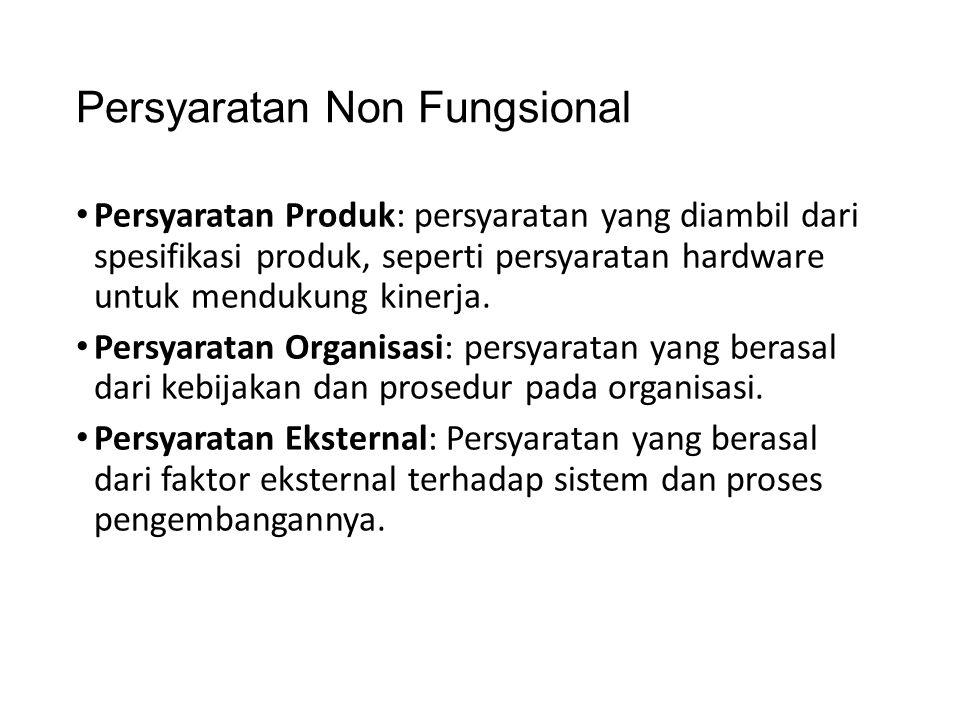 Persyaratan Non Fungsional