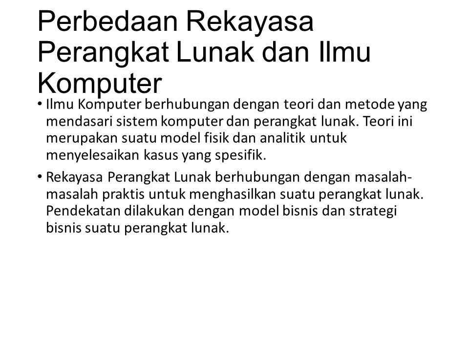 Perbedaan Rekayasa Perangkat Lunak dan Ilmu Komputer