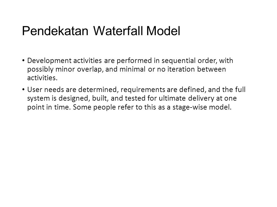 Pendekatan Waterfall Model