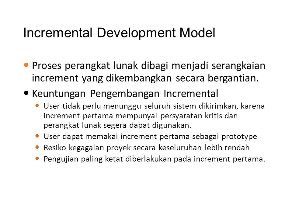 Incremental Development Model