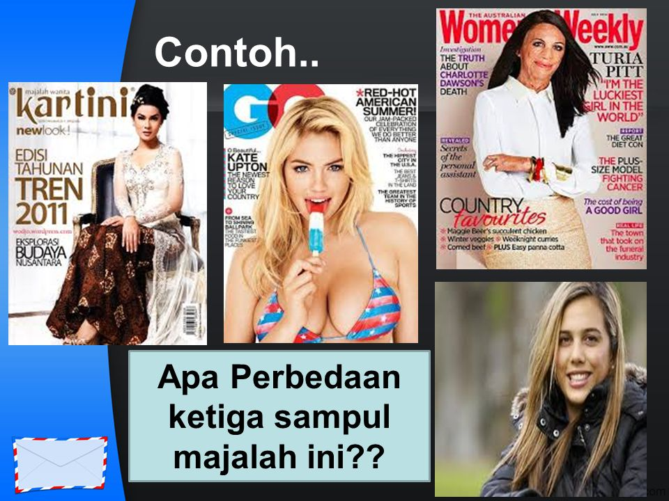 Apa Perbedaan ketiga sampul majalah ini