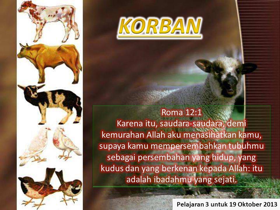 KORBAN Roma 12:1.