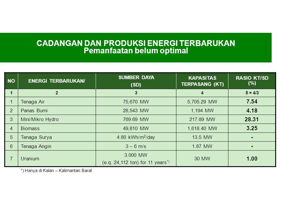 Potensi energi terbarukan di Indonesia sangat besar
