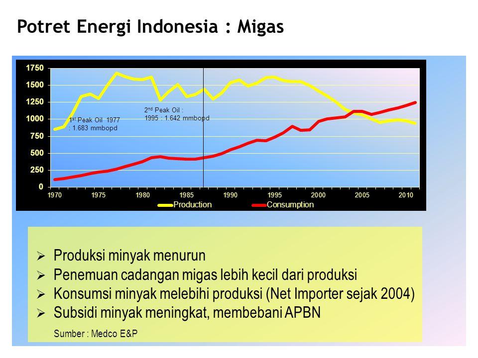 Potret Energi Indonesia : Migas