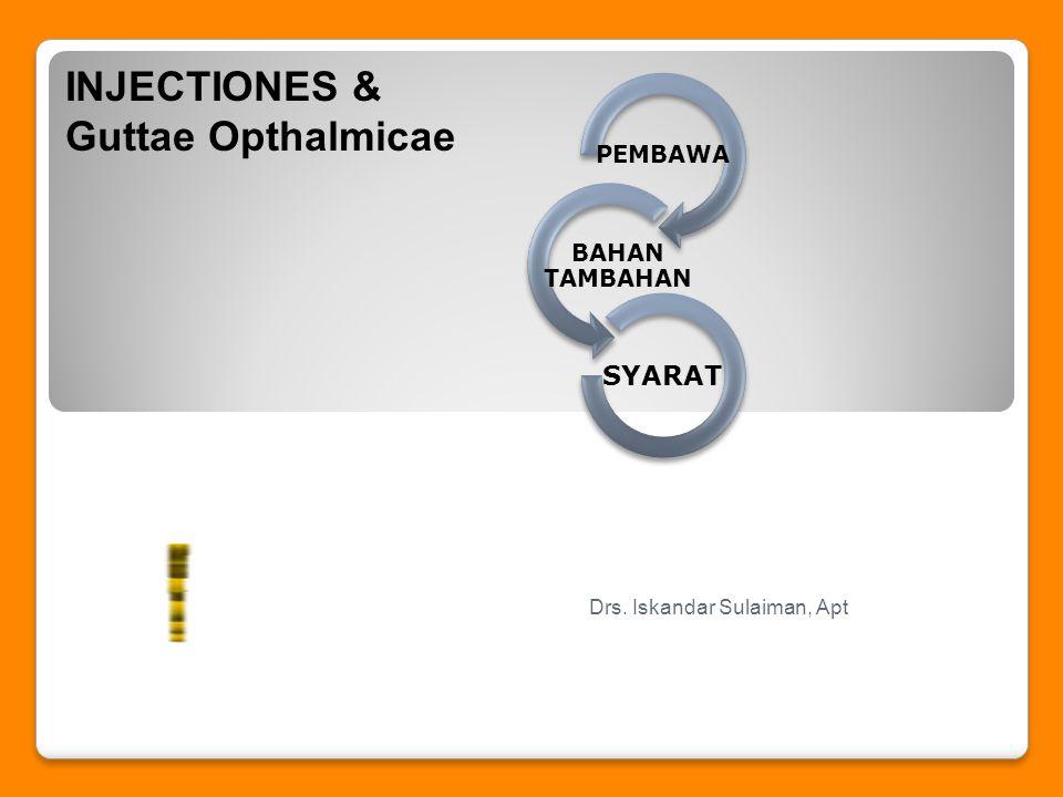 INJECTIONES & Guttae Opthalmicae